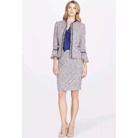 657eb39f Tahari Multicolor Tweed Jacket And Skirt Set Suit.  M_5c9701aa619745be0daaf639